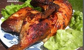 Kuře opékané nad ohněm