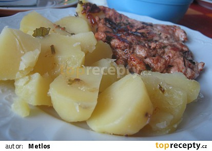 Kuřecí na bylinkovém másle