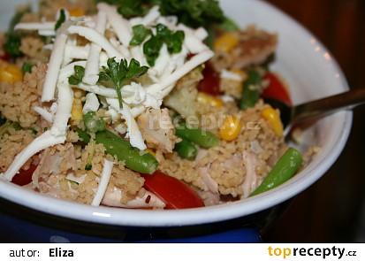 Kuskus s kuřecím na nudličky a zeleninou