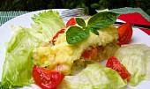 Květák zapečený pod sýrovou bramborovou kaší