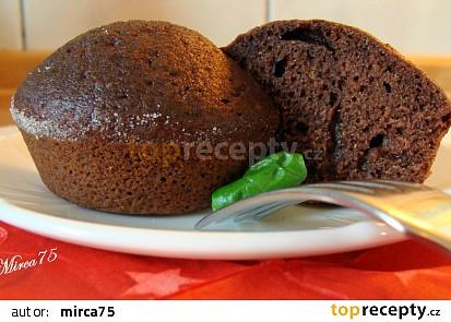 Perníková mlaskajda ve formě muffin na řezu