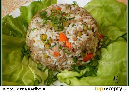 rizoto z krůtího krku se zeleninou