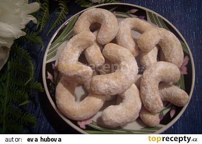 Vanilkové kokosové rohlíčky