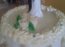 Ananasový svatební dort