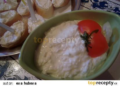 Česnekovo sýrová pomazánka1