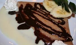 Čokoládové palačinky s pudinkem