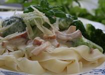 Linguini s uzenou šunkou