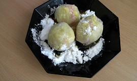 Ovocné knedlíky ze spařovaného těsta--jednoduché