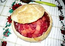 Zapečená polévka z červené řepy