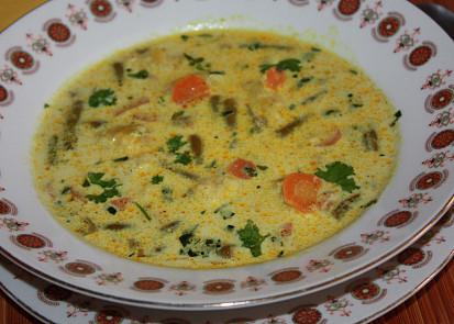 Fazolkovo - mrkvová polévka s kari