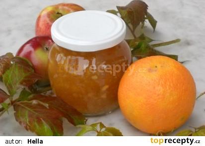 Jablkovo-pomerančový pikantní džem