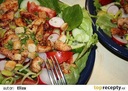 Jarní salát s kuřecím masem