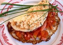 Květákové omelety s rajčaty