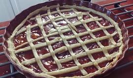 Linecký koláč s marmeládou