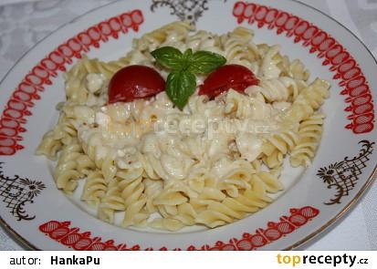 Těstoviny s dvojsýrovou omáčkou