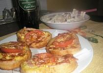 Toastíky obalované v šunce a sýru-rychlá večeře