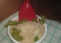 Jemná domácí paštika z drůbežích jater (hydinovej pečene)