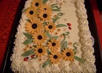Kávový dort s marcipánem