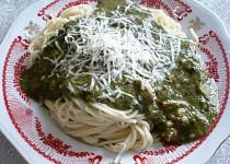 Nouzové špagety se špenátem