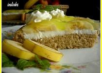 Skleněný koláč s banánem