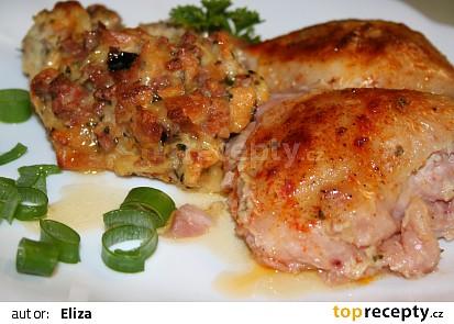 Zapečené kuře s nádivkou