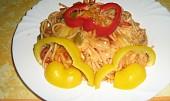 Zapečené špagety s lečem