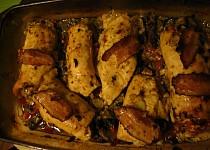 Zapékané kuřecí závitky