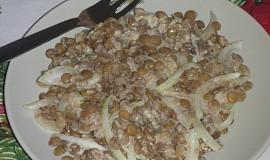 Čočkový salát se smetanou