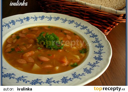 Frankfurtská polévka se zeleninou