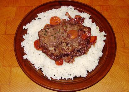 Jehněčí hřbet s rýží