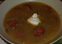 Moje čočková polévka se zelím