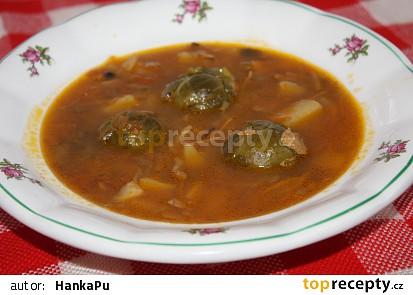 Polévka s růžičkovou kapustou