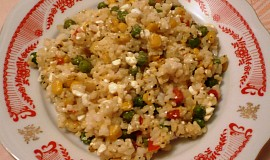 Rýže s cottage sýrem