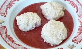 Jahodové knedlíky z bramborovo-tvarohového těsta 2