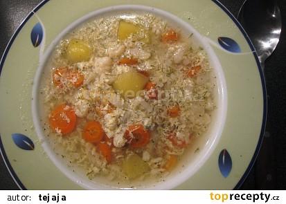 Květáková polévka podle Jitky