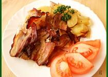 Rybí filé na  anglické slanině