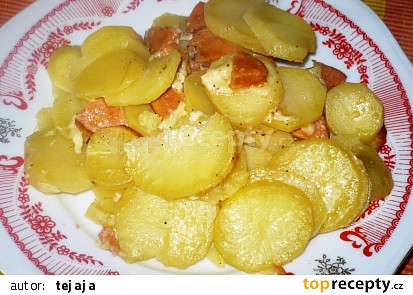 Sýrové zapékané brambory