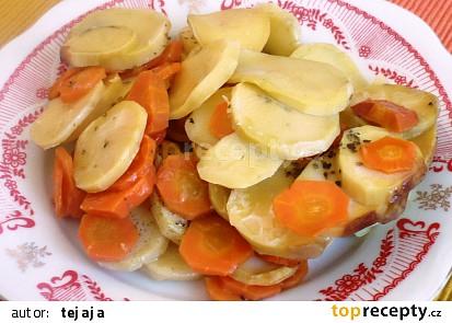 Zapečená mrkev s bramborem