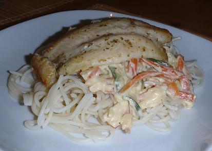 Většinou jako přílohu dělám tagliatelle, ale se špagetkama také výborné!