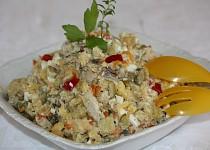 Bramborový salát s kuřecími kousky a hlívou