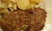 Mleté maso v tukové vepřové bláně (bránici, košilce, závoji, necu)