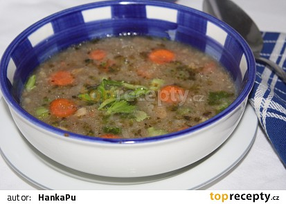 Škvarkovo-chlebová polévka