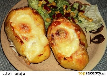 Zapečené plněné brambory