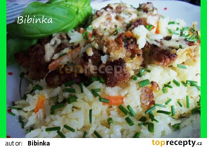 Božská mana z mletého masa na rýži