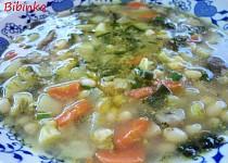 Fazolovo-brokolicová polévka s houbami