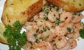 Česnekové krevetky