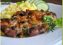 Krkovičkové plátky s majonézovo-kečupovou směsí