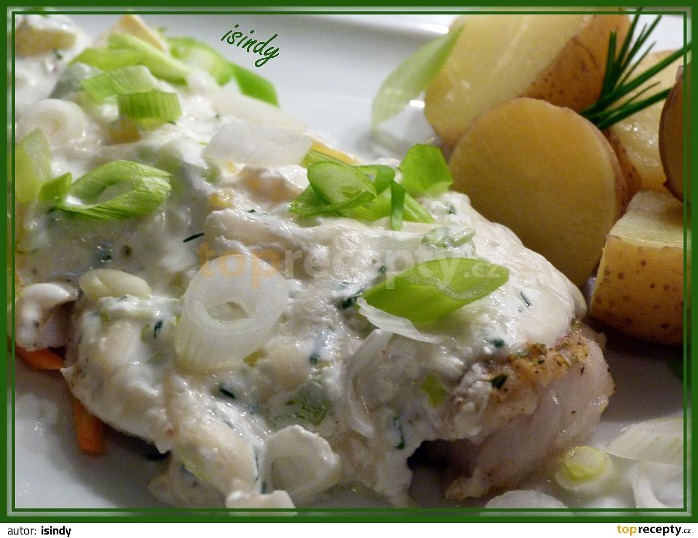 Rybí filety pod bylinkovo - smetanovým kabátkem   parní hrnec recept ... 52225b9239