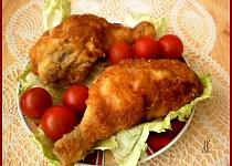 Smažené uzené kuřecí stehno