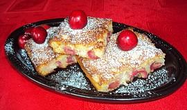 Třešňový koláč z tvarohového těsta